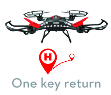 One key return operation of the video